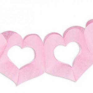 Γιρλάντα καρδιές ροζ 3μ.