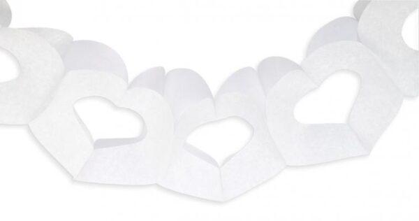 Γιρλάντα καρδιές λευκές 3μ.