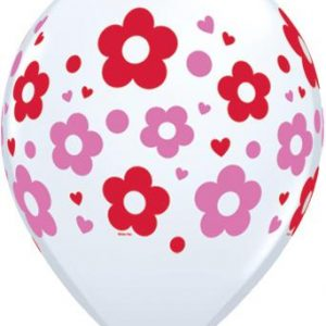 Μπαλόνια Daisies Dots & Hearts Φούξια και Κόκκινα