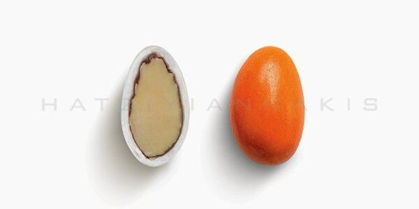 Κουφέτο Αμυγδάλου Βασικό Πορτοκαλί Γυαλισμένο 500gr