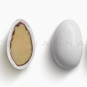 Κουφέτο αμυγδάλου κλασικό λευκό-ροζ ανοιχτό γυαλισμένο