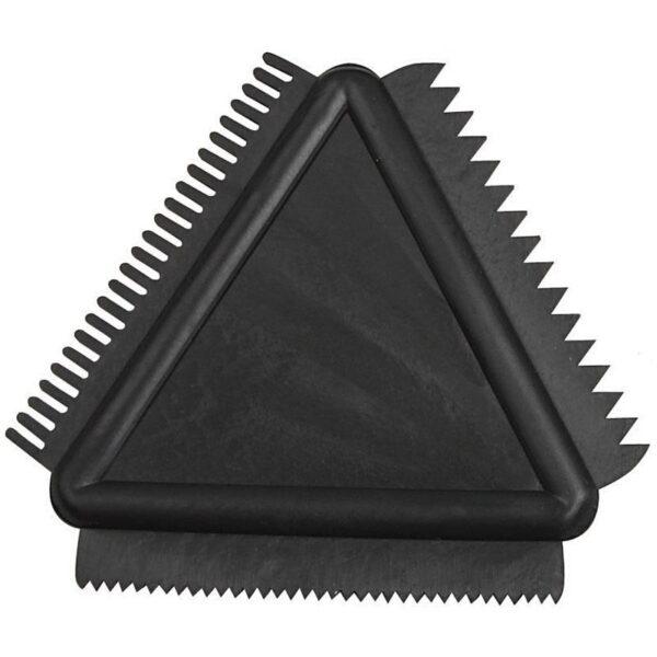 Tριγωνική Χτένα από Καουτσούκ 9cm 1τεμ.