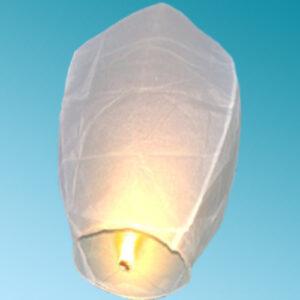Ιπτάμενο χάρτινο φανάρι λευκό 1τεμ.