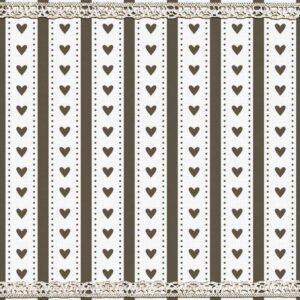 Χαρτοπετσέτες Φαγητού Cottage Hearts Taupe 33x33 cm 20τεμ.