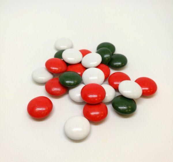 """Κουφέτο RONDO BEBE """"εορταστικό"""" πράσινο- κόκκινο-λευκό γυαλισμένο 500γρ."""