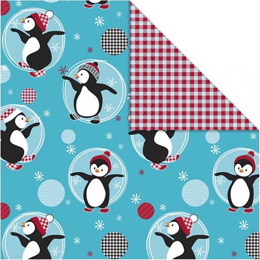 """Χαρτί Περιτυλίγματος """"Penguins"""" 0,5Χ5m."""