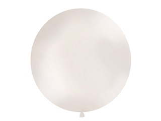 Μπαλόνι Λευκό Μεταλλικό Μονόχρωμο 1τεμ. 1μ.