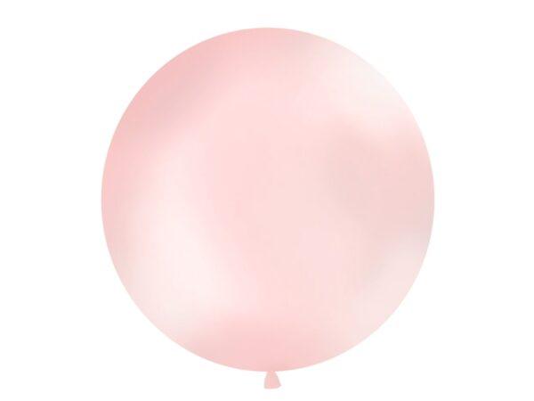 Μπαλόνι Ροζ Ανοιχτό Μεταλλικό Μονόχρωμο 1τεμ. 1μ.