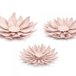 Χάρτινα Συναρμολογούμενα Λουλούδια Ροζ Παστέλ 1τεμ.