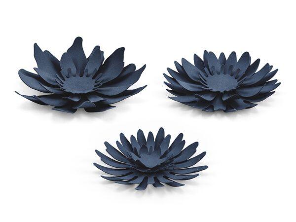 Χάρτινα Συναρμολογούμενα Λουλούδια Μπλε 1τεμ.