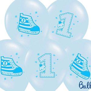 Μπαλόνι Γαλάζιο Παπούτσι-Νο.1 1τεμ. 30εκ.