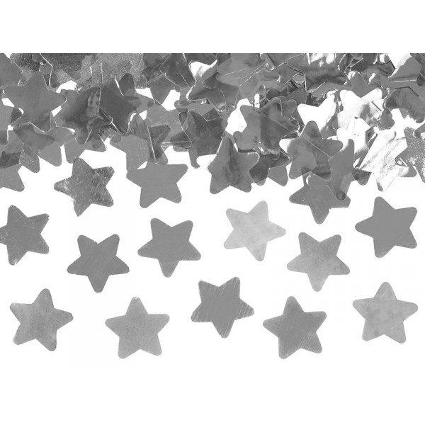 Κανόνι Κομφετί Ασημί Μεταλλικό Αστέρι 60 εκ. 1τεμ