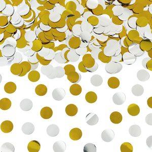 Κανόνι Κομφετί Ασημί Χρυσό Διπλής Όψεως 80 εκ. 1τεμ