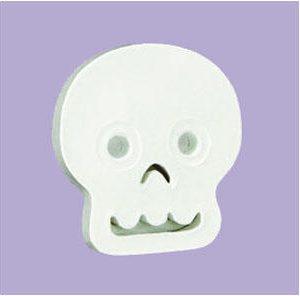 Σύμβολο λευκό skull papier mache 1.5x12x11cm