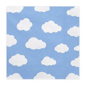 Χαρτοπετσέτες Γαλάζιες με Σύννεφα 20 τεμ.