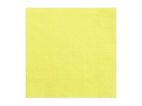 Χαρτοπετσέτες Κίτρινες Μονόχρωμες 20 τεμ.