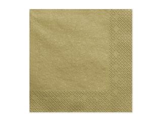 Χαρτοπετσέτες Χρυσές Μεταλλικές Μονόχρωμες 20 τεμ.