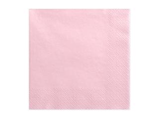 Χαρτοπετσέτες Ροζ Ανοιχτό Μονόχρωμες 20 τεμ.