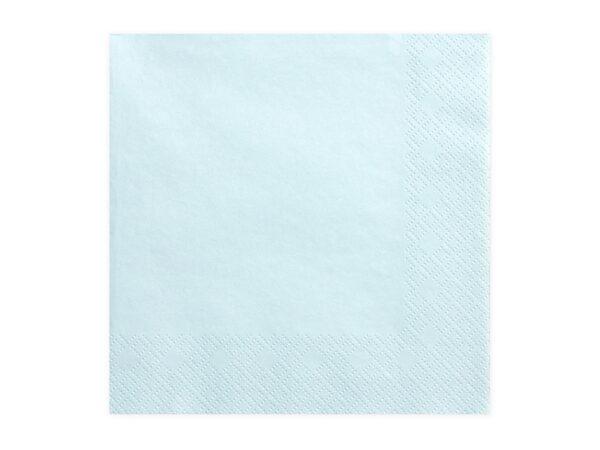 Χαρτοπετσέτες Γαλάζιο Ανοιχτό Μονόχρωμες 20 τεμ.