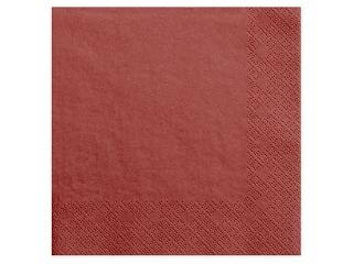 Χαρτοπετσέτες Κόκκινο Μονόχρωμες 20 τεμ. 40 x 40 εκ.