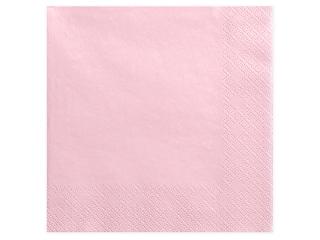 Χαρτοπετσέτες Ροζ Ανοιχτό Μονόχρωμες 20 τεμ. 40 x 40 εκ.