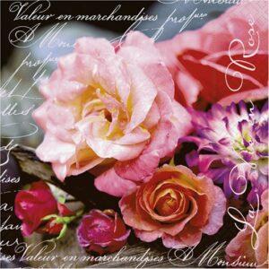 """Χαρτοπετσέτες Decoupage """"La vie en rose"""" 33Χ33εκ."""