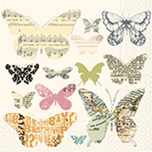 """Χαρτοπετσέτα Decoupage """"Media Butterflies"""" 33Χ33εκ. 1τεμ."""