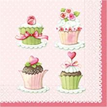 """Χαρτοπετσέτες ντεκουπάζ """"Lovely Cupcakes"""""""