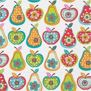 """Χαρτοπετσέτες Decoupage """"Apples and Pears"""" 33Χ33εκ."""