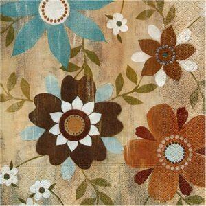 """Χαρτοπετσέτα Decoupage """"Flower Carpet"""" 33X33εκ."""