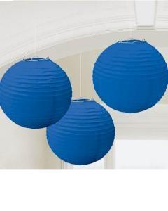 Χάρτινη Διακοσμητική Μπάλα Μπλε 3τεμ.