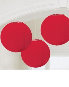 Χάρτινη Διακοσμητική Μπάλα Κόκκινη 3τεμ.