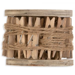Κορδέλα σπάγγος με ξύλινα μανταλάκια 5m