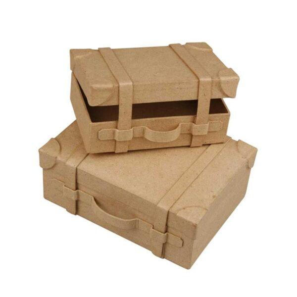 Βαλιτσάκι papier-mache 2 τεμ.
