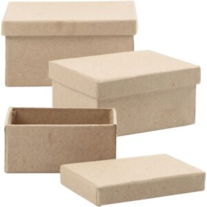 Κουτιά Papier Mache set 3τεμ