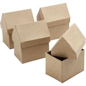 Kουτί Σπιτάκι Papier Mache 1τεμ.