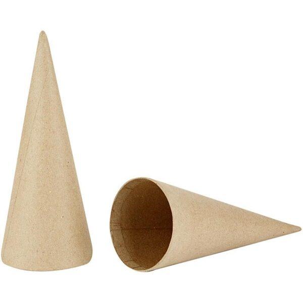 Κώνοι Papier Mache Ύψος 20cm Διάμετρος 8cm 5τεμ