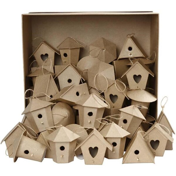 Bird House Papier Mache 1τεμ.