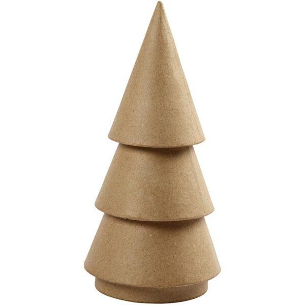 Χριστουγεννιάτικο Δέντρο κώνος pappier mache 1τεμ.