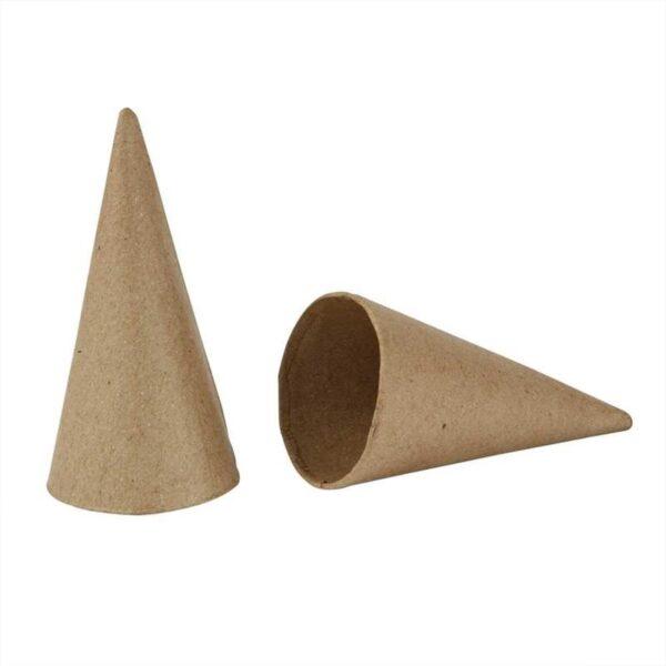 Κώνος Papier Mache Ύψος 10cm Διάμετρος 5cm 10τεμ