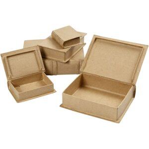 Kουτί Βιβλίο Papier-Mache 5τεμ.