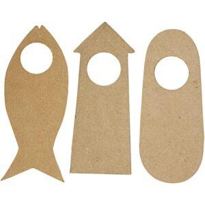 Ξύλινα Κρεμαστά Σπιτάκια Ύψος13+16 cm Πάχος 5mm 2τεμ.