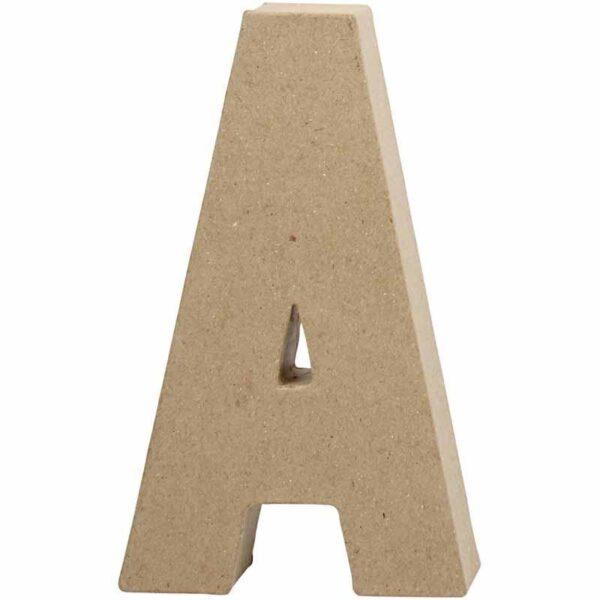 Γράμμα Α μικρό papier-mache Yψος 10,5 cm Πάχος 2 cm