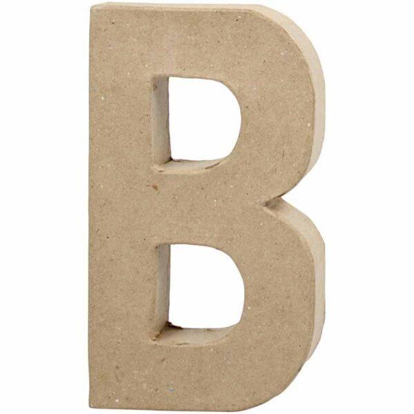 Γράμμα B μεγάλο papier-mache Yψος 20,5 cm Πάχος 2,5 cm