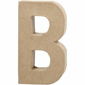 Γράμμα B μικρό papier-mache Yψος 10,5 cm Πάχος 2 cm
