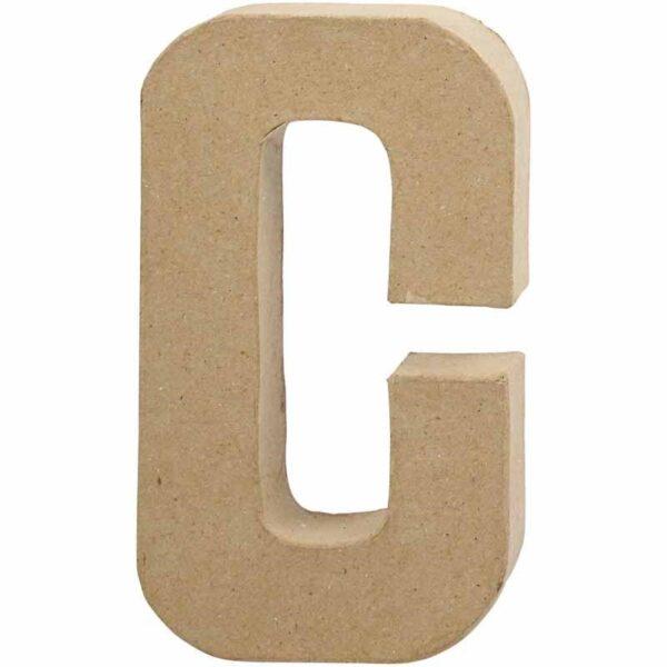 Γράμμα C μεγάλο papier-mache Yψος 20,5 cm Πάχος 2,5 cm