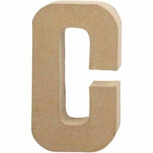 Γράμμα C μικρό papier-mache Yψος 10,5 cm Πάχος 2 cm