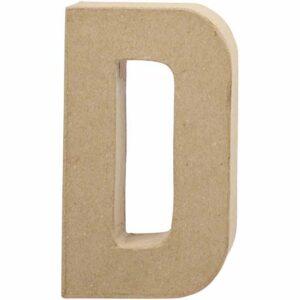 Γράμμα D μικρό papier-mache Yψος 10,5 cm Πάχος 2 cm
