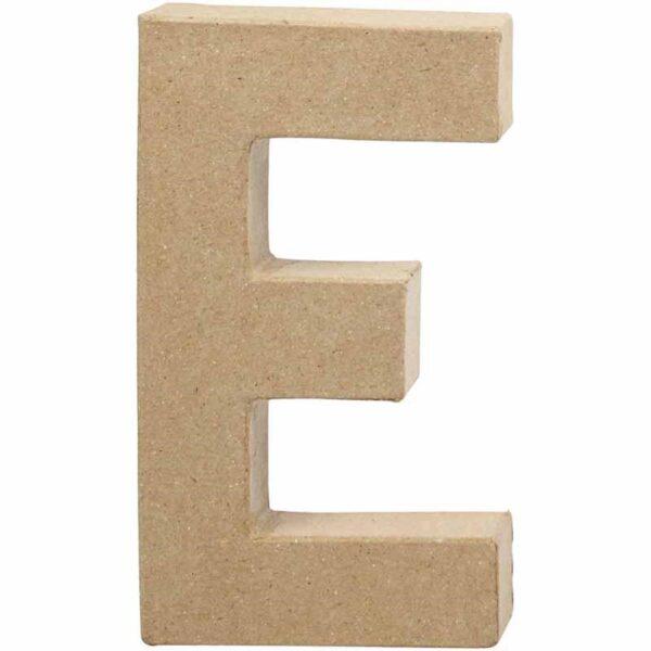 Γράμμα E μικρό papier-mache Yψος 10,5 cm Πάχος 2 cm