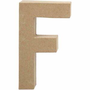Γράμμα F μικρό papier-mache Yψος 10,5 cm Πάχος 2 cm